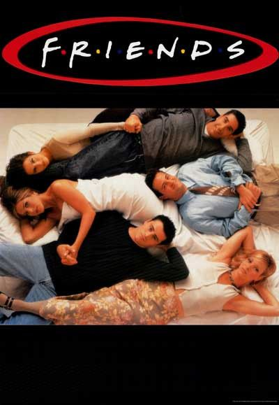 Friends Cast Bedtime Buddies TV Show Poster 27x39
