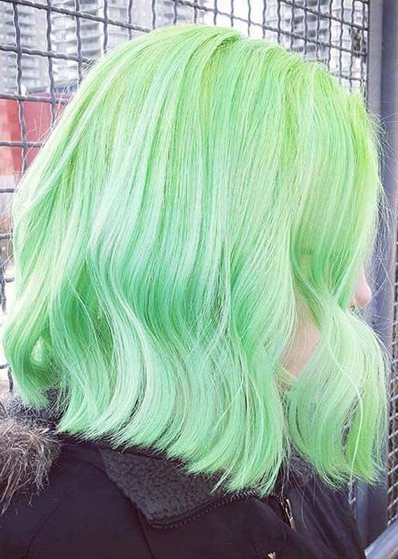 13+ Pastel green hair ideas