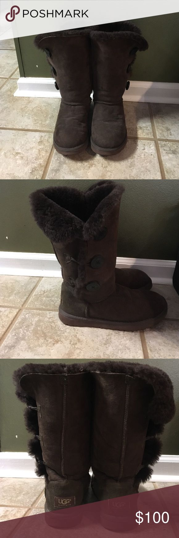 UGG Bailey Button Triplet 2 Great condition, barely worn! UGG Shoes Winter & Rain Boots