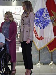 First lady Melania Trump at Walter Reed National Military
