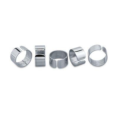FLAT RINGS SET  Cinque anelli in argento da portare su tutte le 5 dita aperti sotto  Maria Vittoria Paolillo Gioielli