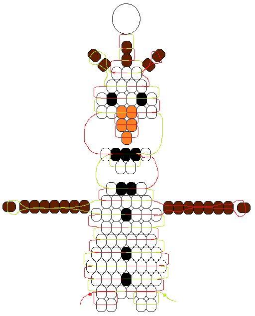 Olaf - Pony Bead Frozen pattern designed by Margo Mead