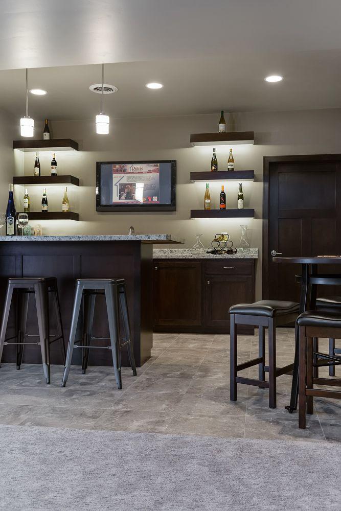 Light Grey Luxury Vinyl Tile Wet Bar Flooring With Carpet