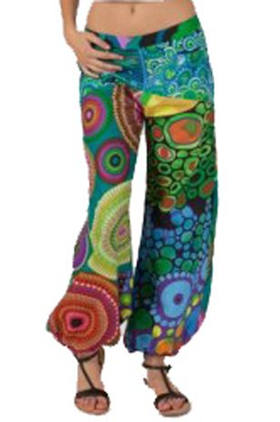 Wijde broek multi kleur mandala