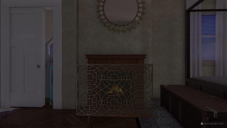 23 December 1983 bedroom fireplace