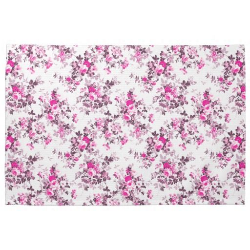 Cute Girly Pink Vintage Roses Floral Pattern