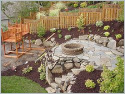 I Want To Build Up A River Rock Patio Like This To Make The Most Of