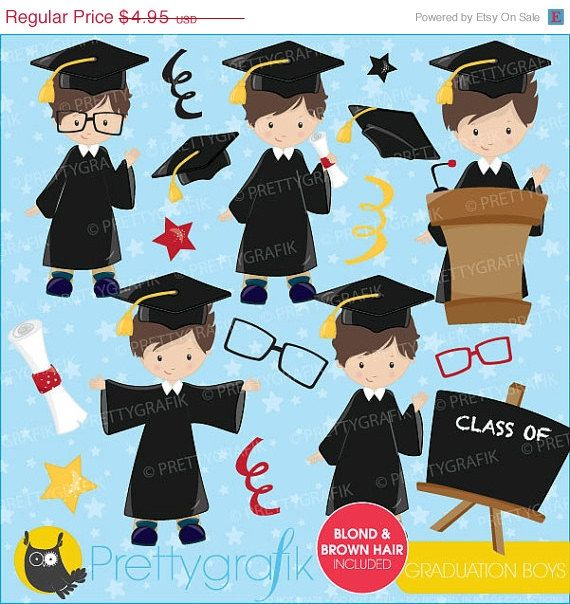 40 OFF SALE Graduation boys clipart by Prettygrafikdesign on Etsy, #prettygrafik #graduationclipart