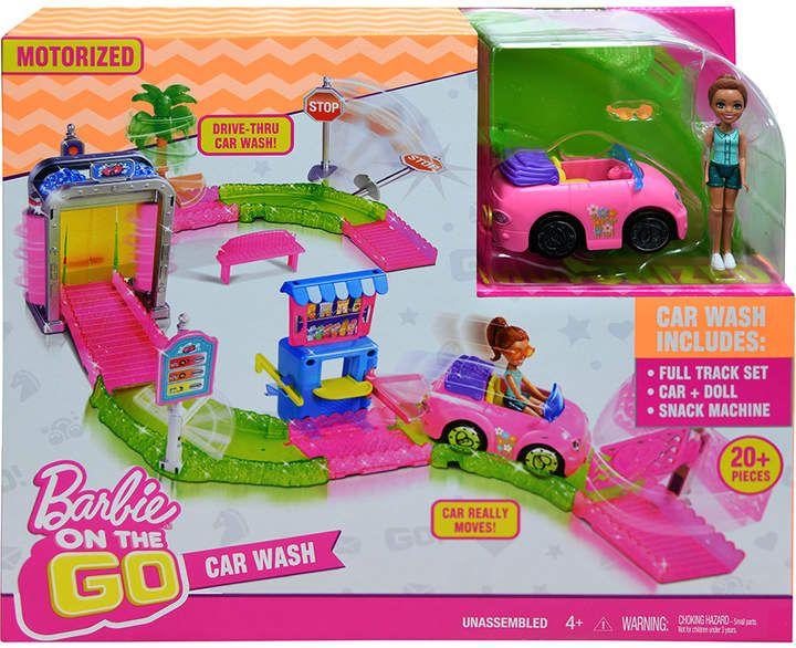 Barbie On The Go Car Wash Set Car Barbie Set Barbie Sets Go