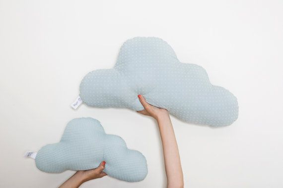 Mint cloud Pillow   baby nursery throw pillow  Kids by Nuppi