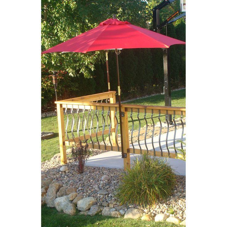 Patio Umbrella Bracket: Deck/Dock Umbrella Pole Bracket At Hayneedle