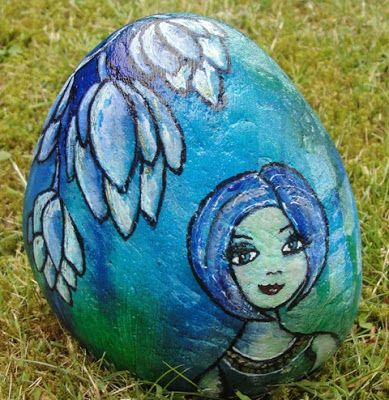 Marja's Creativity - painted and stamped stone