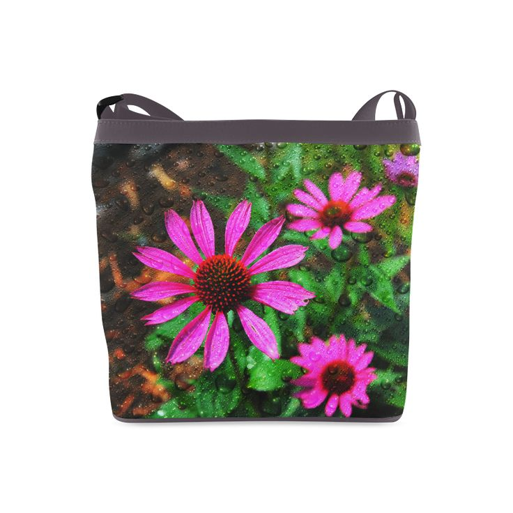 Flowers and Rain Crossbody Bags (Model 1613)