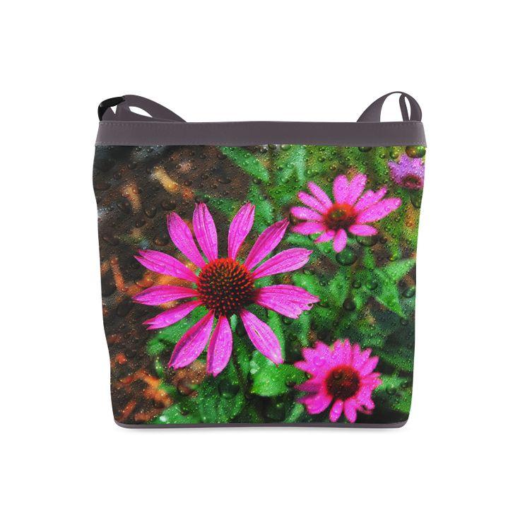 Flowers and Rain Crossbody Bags (Model 1613)