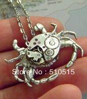 Винтаж навигацион механические краб часы в стиле стимпанк клещи не движение ожерелье