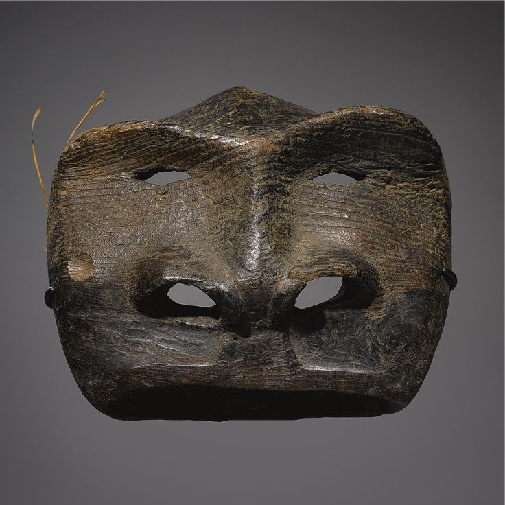 An Early Eskimo Wood Mask, probably St. Lawrence Island | Lot | Sotheby's