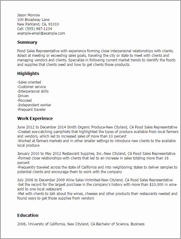 Luxury Cover Letter Examples Food And Beverage Industry Medical Sales Resume Sales Resume Examples Resume Examples