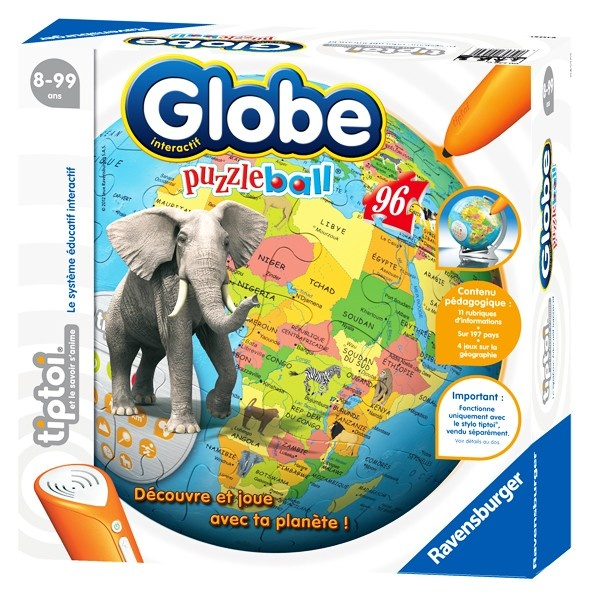 Puzzle interactif Tiptoi - Globe Puzzleball - Puzzles interactifs