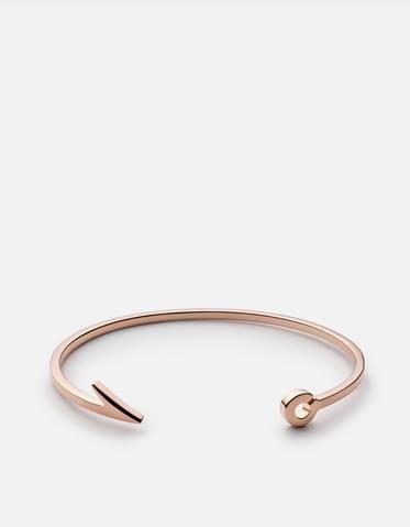 Thin Fish Hook Cuff Gold Vermeil