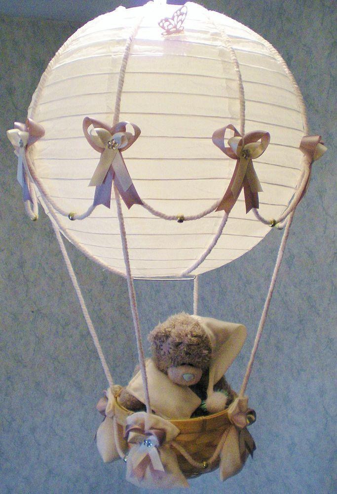 TATTY TEDDY in hot Air Balloon Lamp-light Shade for Baby Nursery
