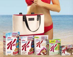 Kellogg's : sac de plage GRATUIT ! Recevez un beau sac de plage pour l'achat de trois produits Kellogg's participant à l'offre afin de recevoir chez vous GRATUITEMENT votre jolie sac de plage.  A nous les économies !