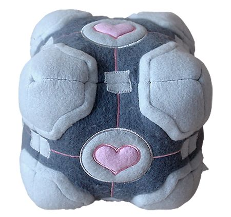 Companion Cube Plush - I'm a huge Portal fan, and while I was never very nice to the companion cube, when I look at this, I'm instantly happy.