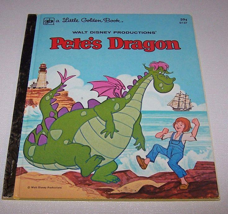 Pete's Dragon, 1977 Children's Hardback Book, Illustrated. A Little Golden Book.