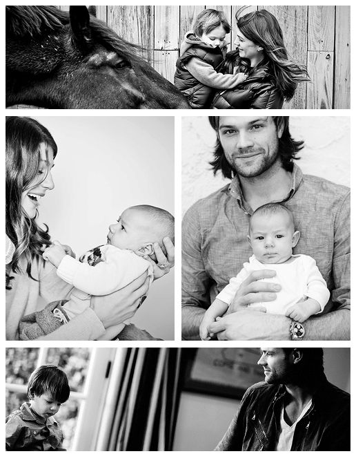 The Padaleckis <3 (Click through to read Jared's 'Hip Daddy' interview about being a father. So cute.)