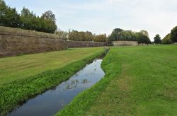 The walls of Lucca, a city park