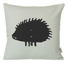 Hedgehog Cushion - 30 x 30 cm by Ferm Living Black, Light green