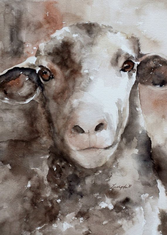 Hey, I found this really awesome Etsy listing at https://www.etsy.com/listing/167101747/for-her-sheep-painting-sheep-art