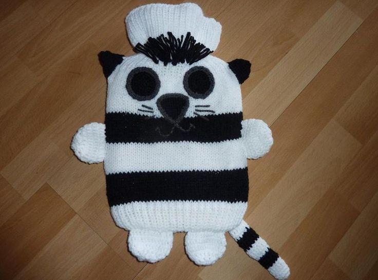 """Wärmflasche mit Bezug """"Katze"""" von CreativBaer auf DaWanda.com"""