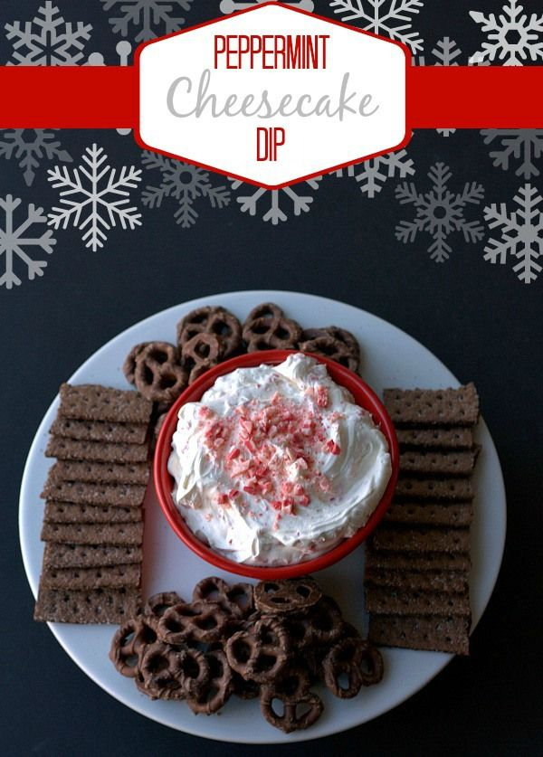 Peppermint Cheesecake Dip - I added a bit more peppermint extract to this (and a bit more Cool Whip). This was wonderful. I would love to make this and use it as a topping for tiny brownies!