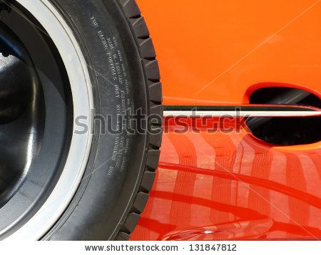 Red Sports Car And Wheel Side Detail Photograph Stock Photo 131847812 : Shutterstock