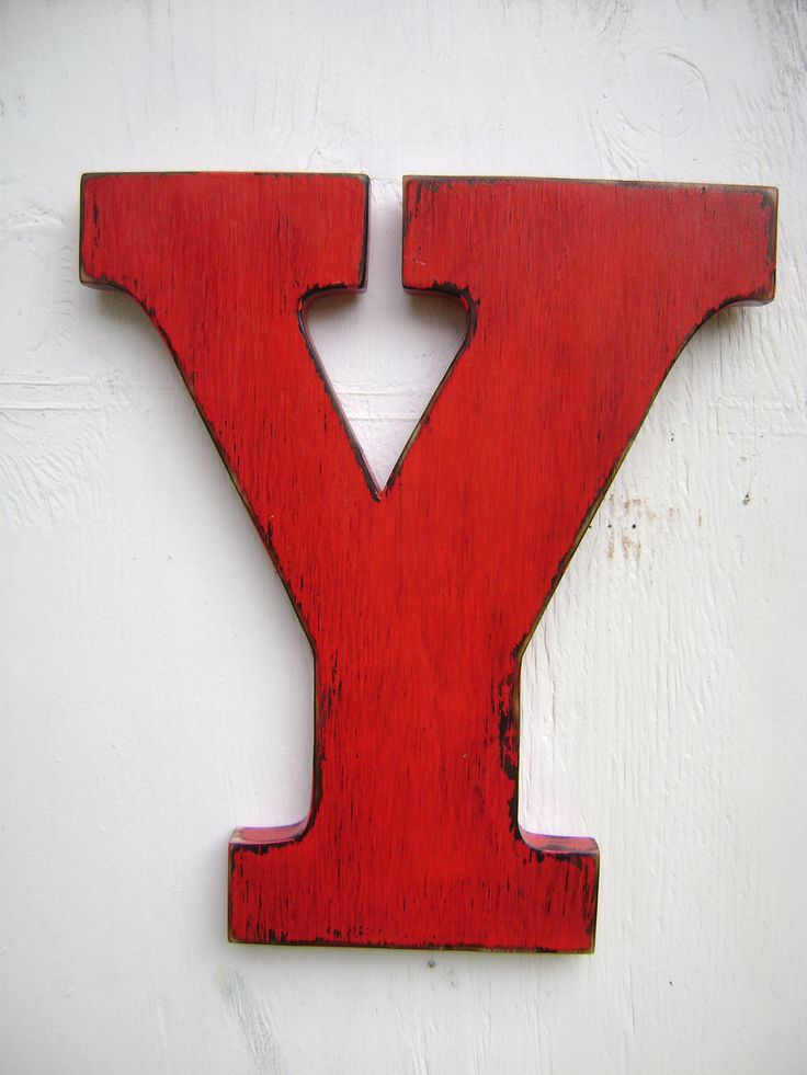 Large rustic wood letter Y shabby chic  vintage country wedding decor -nursery decor. via Etsy.