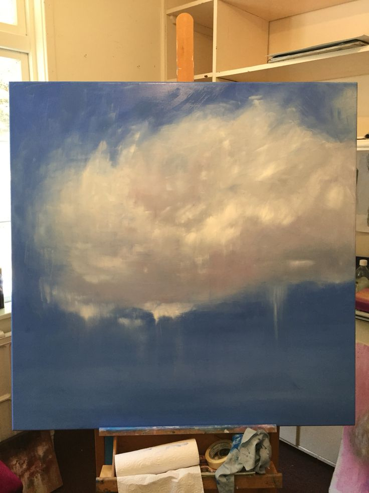 Fragmented light Oil on canvas 118 x 118 cm $1250  #abstract #belindagriffiths #cloud #oilpainting #contemporaryaustralianartist