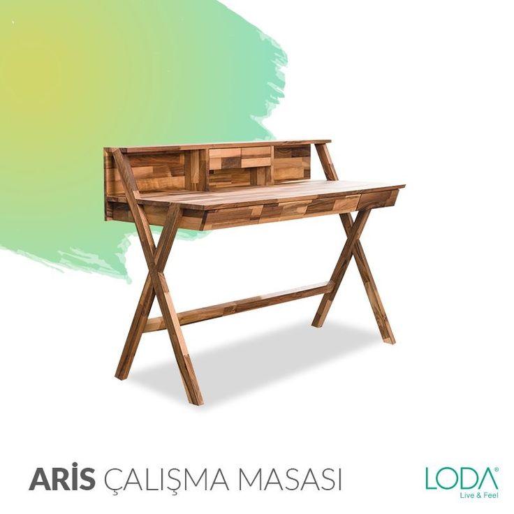 Trend ayak modelleri ve çekmeceli tasarımı ile Aris Çalışma Masası yeni bir fikre ihtiyacı olanların en büyük yardımcısı.