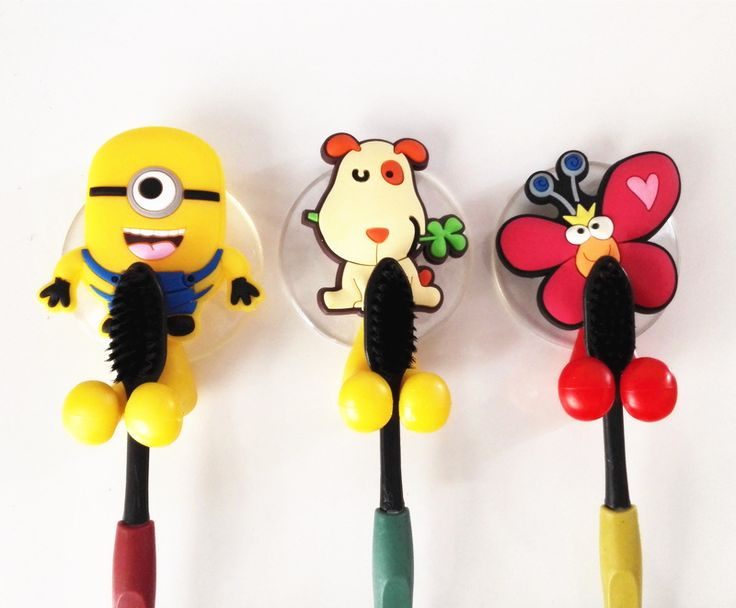 Cute minion Hello Kitty Cartoon suction cup toothbrush holder hooks bathroom set accessories Eco-Friendly