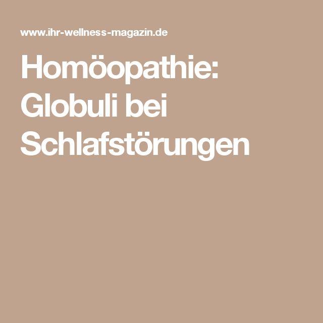 Homöopathie: Globuli bei Schlafstörungen