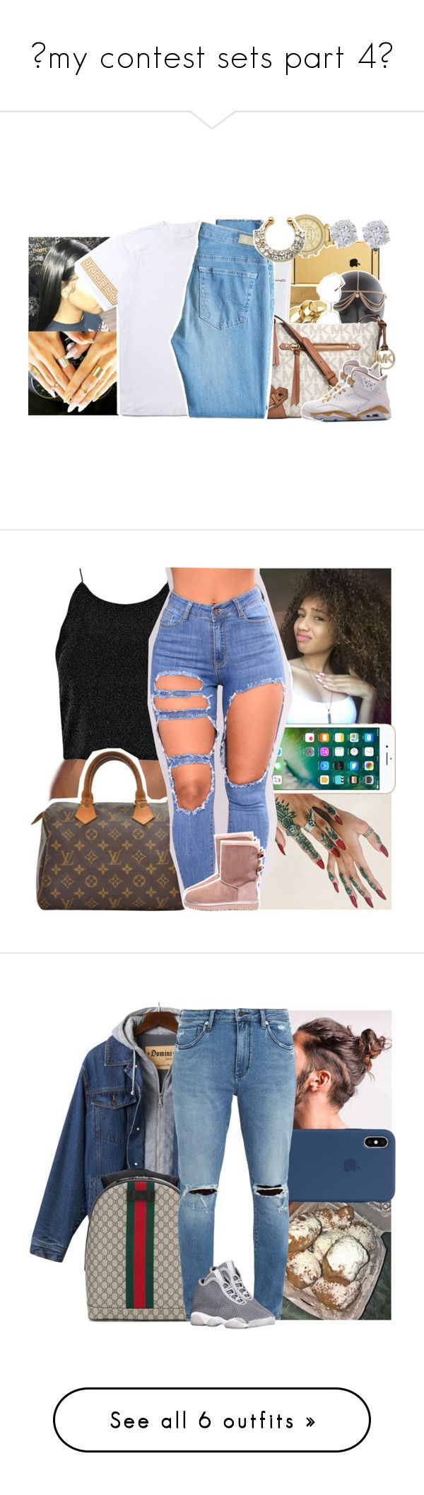 """""""💋my contest sets part 4💋"""" by danny-baby-xoxo ❤ liked on Polyvore featuring Dogeared, Goldgenie, Michael Kors, MAC Cosmetics, AG Adriano Goldschmied, Effy Jewelry, Louis Vuitton, UGG, Gucci and Neuw"""