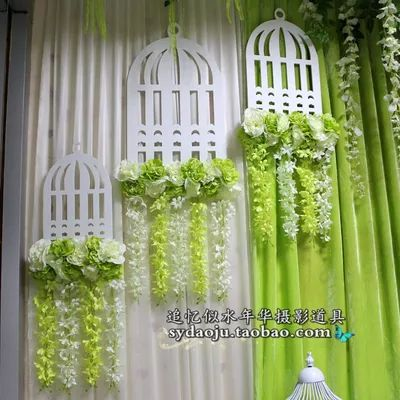 Европейский свадебный фон реквизит свадьба сайт макет клетка рама цветочные орнаменты цветочные и декоративные окна - Taobao