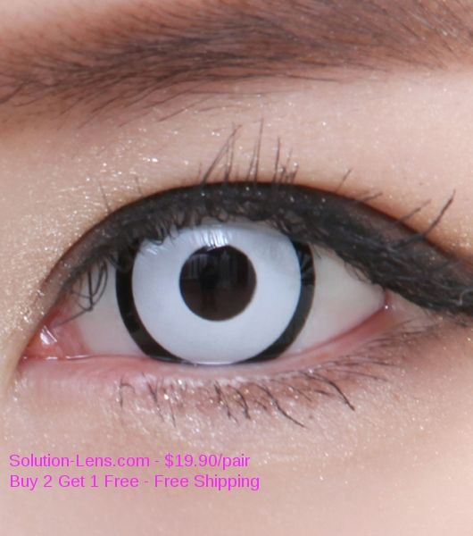Pure White Eye Contact Lenses | ... CRAZY SF-16 CORONA MARILYN MANSON WHITE CONTACT LENSES FOR HALLOWEEN