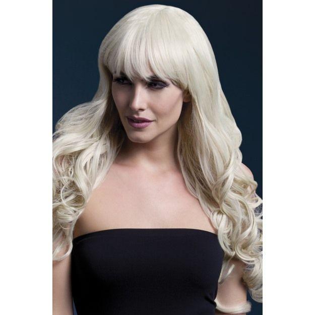 Fever Isabelle Wig, Long, Curly With Fringe,Blonde