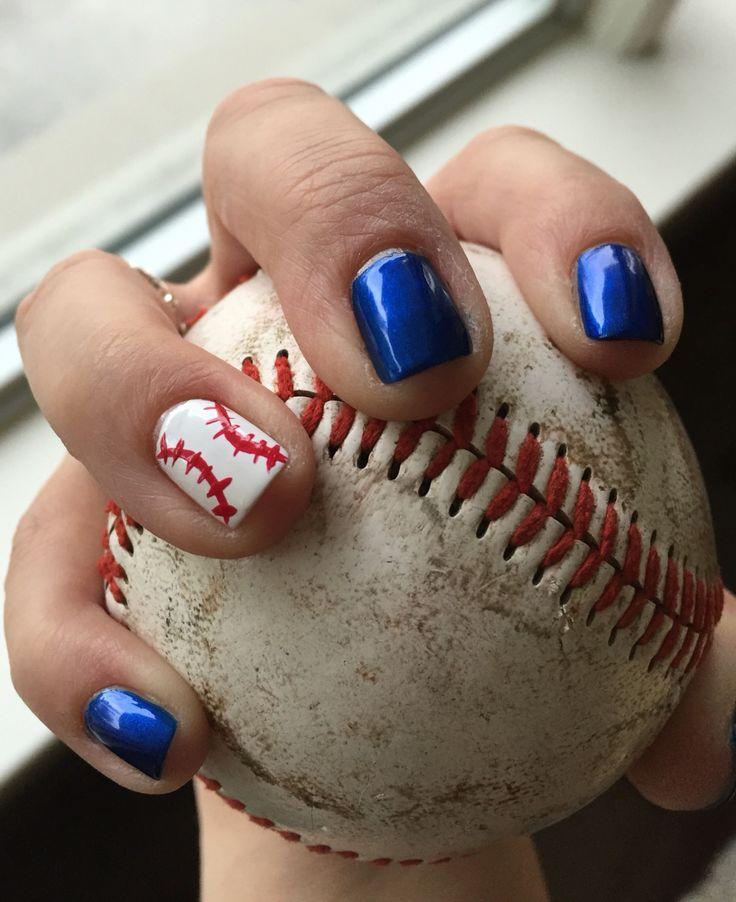 #comeTOgether #letsgobluejays #manicure #nails #baseball #teamspirit #bluejays