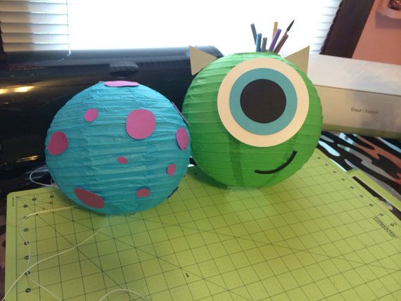 Monsters Inc Lanterns by YrsYpartydecor on Etsy, $11.00
