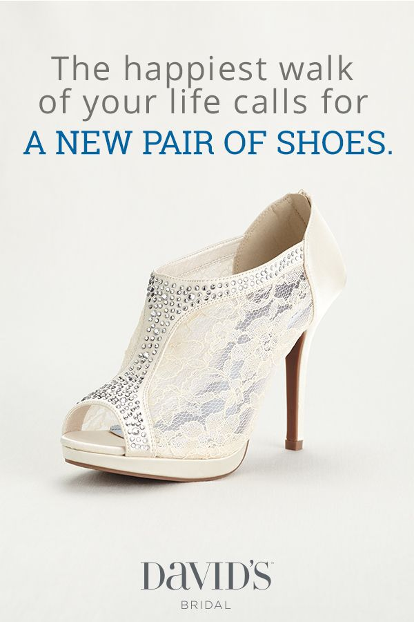 Every style. Every heel height. Every color. Find your wedding-day shoes at David's Bridal.