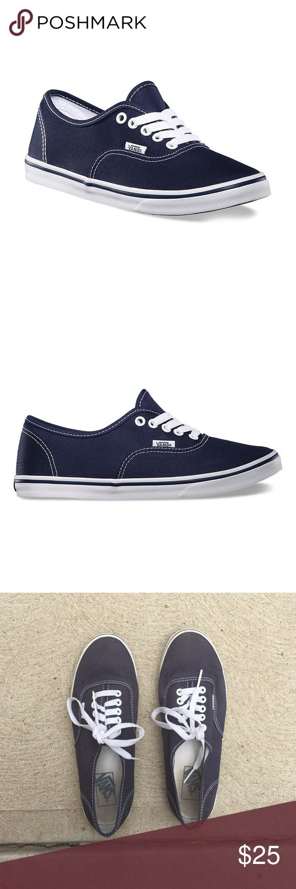 mens navy vans navy laces