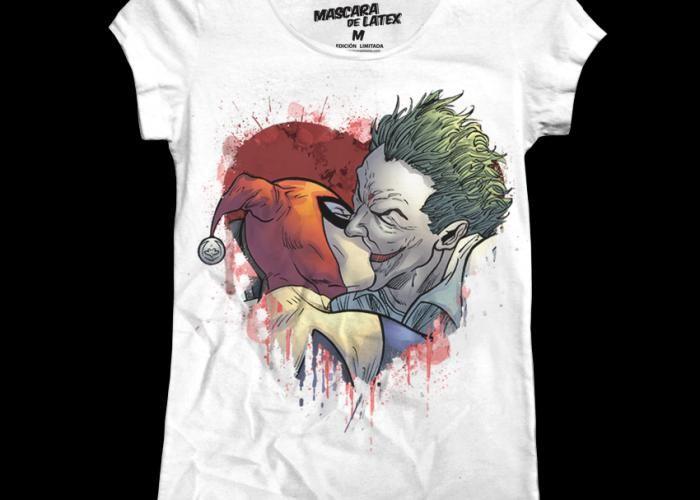 ¡Bésame mucho! Mujer -  #Joker #HarleyQuinn #SuicideSquad #DC #MascaraDeLatex