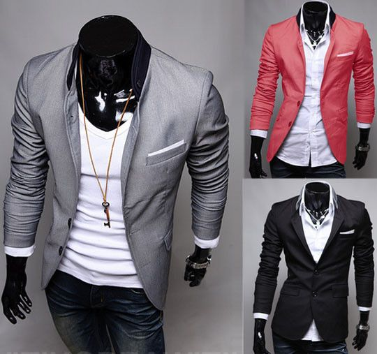 Men's Summer Blazers........ so ideally want a black one and i wanna go on a date with one on