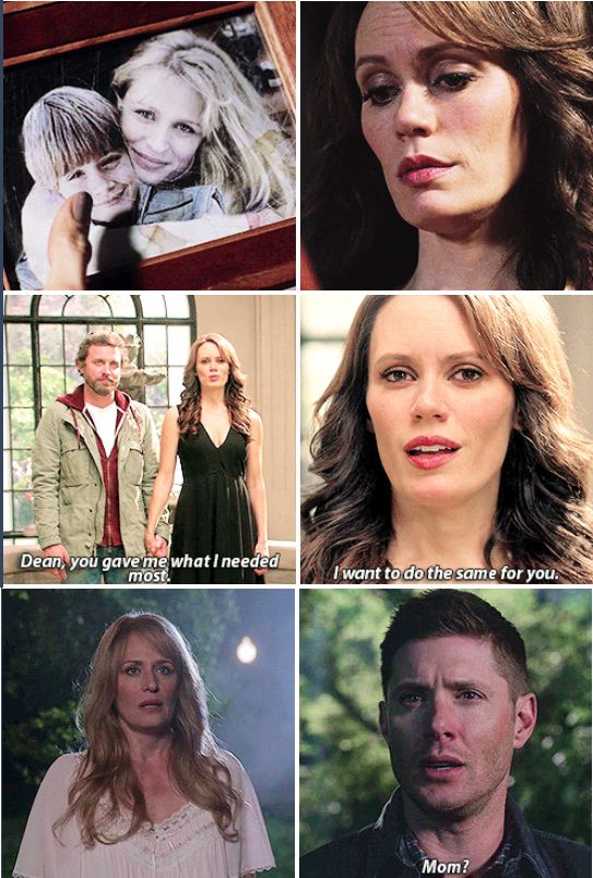 11x23 Alpha and Omega // Amara: Dean, you gave me what I needed most. I want to do the same for you. Dean: Mom?